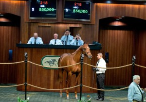 obs april  2014 Monday Sale;1 10.3 F      Broken Vow Fair and Square Paul Sharp,     Agent VII West Point Thoroughbreds,   Inc. $65,000; Narvick;62 10.0 F      Harlan's Holiday Garden Party de Meric Sales, Agent XI Narvick International $270,000; 5