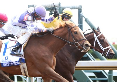 WEEP NO MORE The Central Bank Ashland Gr 1 - 79th Running Keeneland Race Course Lexington,    Kentucky April 9,    2016 Race #06 Purse $500,000 1-1/16 Miles 1:43.57 Ashbrook Farm, Owner George R. Arnold II, Trainer Corey J. Lanerie, Jockey Rachel's Valentina (2nd) Cathryn Sophia (3rd) $62.20 $12.40 $3.20 Order of Finish - , , , Please Give Photo Credit To: / Coady Photography