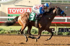 Kaleem Shah's Klimt and jockey Rafael Bejarano win the Grade II,    $200,   00 Best Pal Stakes,  Saturday, August 13, 2016 at Del Mar Thoroughbred Club, Del Mar CA. © BENOIT PHOTO